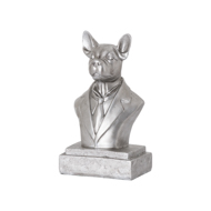 Fred the Frenchie Antique Silver Bust