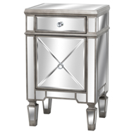 The Silver Belfry Collection One Draw One Door Bedside