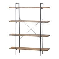 Four Tier Industrial Section Bookcase