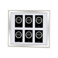 Silver Bevelled Mirrored Multi Photo Frame For 6 x 4X6