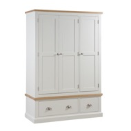 The Ripley Collection Triple Over Three Drawer Wardrobe