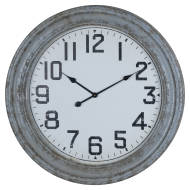 Rustic Grey Traditional Wall Clock
