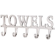 Large  Nickel  Towel  Hook
