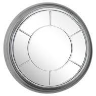 Circular Silver Foil Bevel Mirror