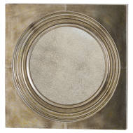 Stratton Bronze Mirror With Antique Glass