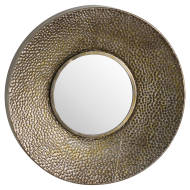 Hammered Antique Bronze Wall Mirror