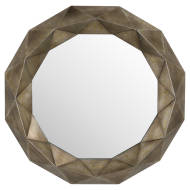 Geometric Bronze Wall Mirror