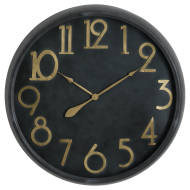 Soho Brass And Black Large Clock