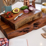 Live Edge Collection Large Pyman Chopping Board - Thumb 4
