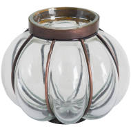 Blown Glass Candle Holder