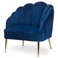Navy Velvet Teacup Chair