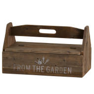 Rustic Wood Garden Tool Box