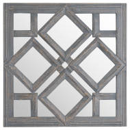 Geometric Diamond Cut Out Wall Mirror