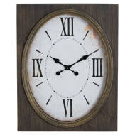 Inset Oval Clock With Roman Numeral