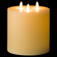 Luxe Collection Natural Glow 6 x 6 LED Ivory Candle - Thumb 2