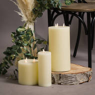 Luxe Collection Natural Glow 6 x 6 LED Ivory Candle - Thumb 5