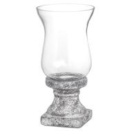 Aged Stone Ceramic Hurricane Lantern