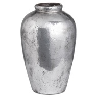 Tall Metallic Ceramic Vase