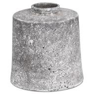 Aged Stone Large Cylindrical Ceramic Vase