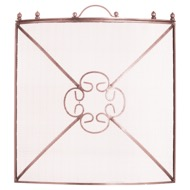 Mesh Fireguard In Copper Effect Finish