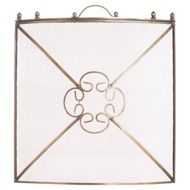 Mesh Fireguard In Antique Bronze Finish
