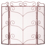 Large Copper Finish Ornate Fire Screen