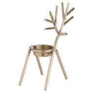 Gold Stick Reindeer Tea Light Holder