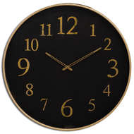 Black And Gold Glass Wall Clock