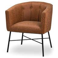 Tan Faux Leather Urban Tub Chair