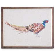 Pheasant On Cement Board With Frame