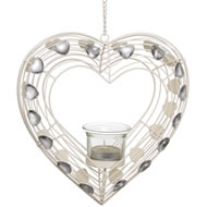 Heart  Tea  Light  Holder  White
