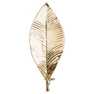 Large Brass Leaf Wall Hanging Candle Holder