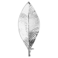 Large Silver Leaf Wall Hanging Candle Holder