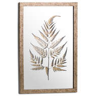 Metallic Mirrored Brass Fern Wall Art