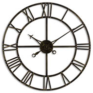 Antique Brass Skeleton Clock