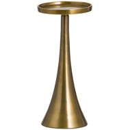 Ohlson Antique Brass Candle Pillar Cast Holder