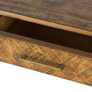 Havana Gold 2 Drawer Console Table - Thumb 2