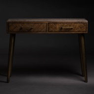 Havana Gold 2 Drawer Console Table - Thumb 4