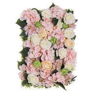 Pink Dahlia Flower Wall