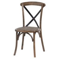 Oak Cross Back Dining Chair