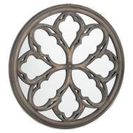 Circular Grey Wash  Avrey Mirror - Thumb 1