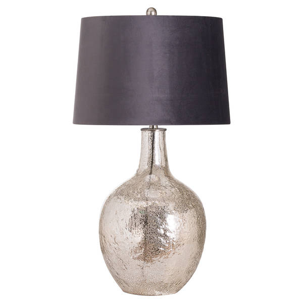Harmony Table Lamp With Grey Velvet Shade