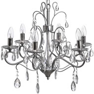 Silver  Crystal  Effect  Chandelier