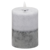 Luxe Collection Natural Glow 3x4 Grey  Dipped LED Candle - Thumb 1