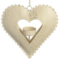 Hanging  Heart  Tea  Light  Holder