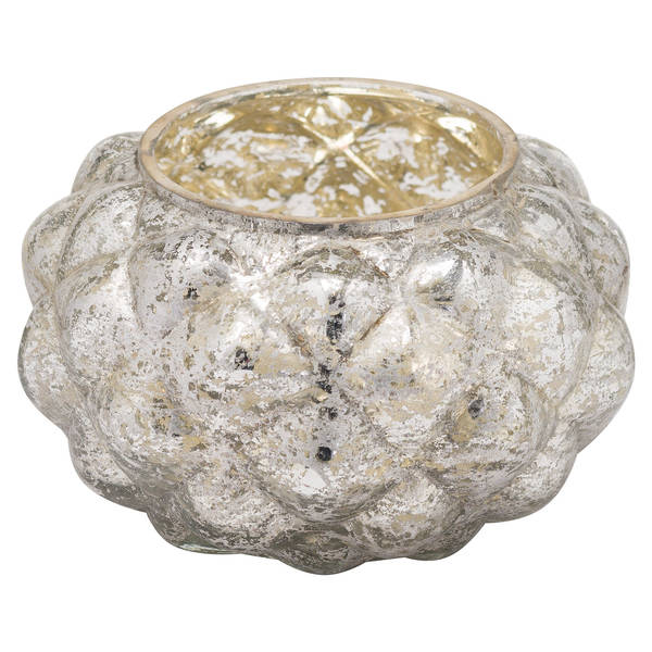The Noel Collection Medium Silver Foil Votive Candle Holder - Thumb 1