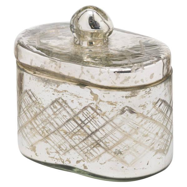 The Noel Collection Silver Foil Effect Trinket Jar