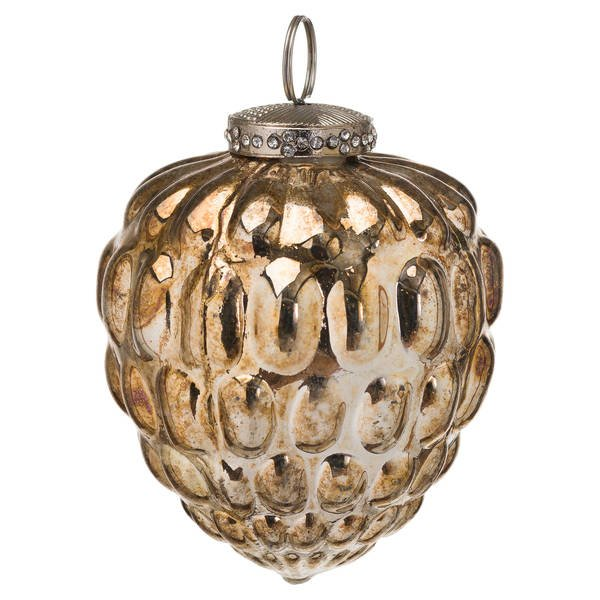 The Noel Collection Burnished  Acorn Hanging Bauble