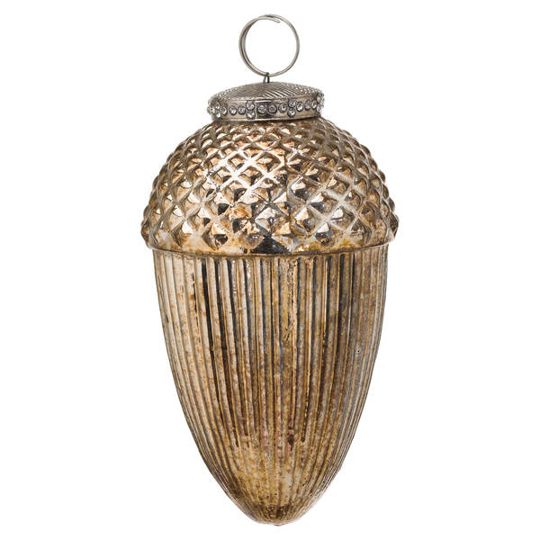 The Noel Collection Large Hanging Acorn Decoration - Thumb 1