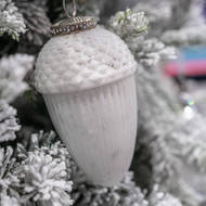 The Noel Collection Large White Hanging Acorn Decoration - Thumb 3